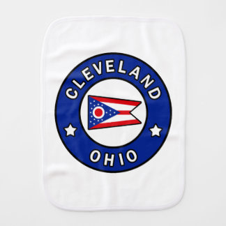 Cleveland Ohio Burp Cloth