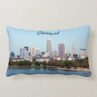 Cleveland Ohio Classic Lake Skyline Pillow