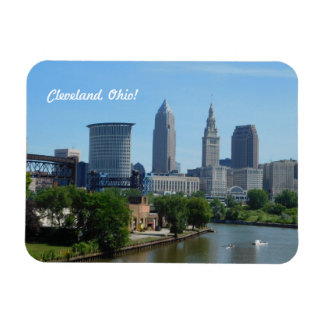 Cleveland, Ohio Downtown River Magnet