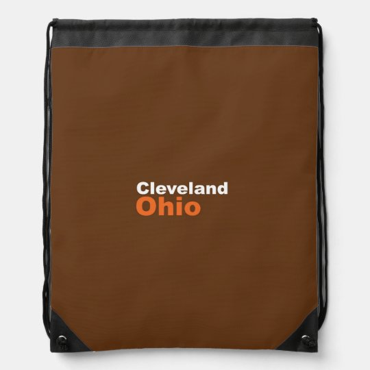 Cleveland, Ohio Drawstring Backpack