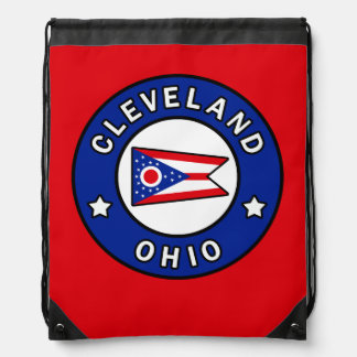 Cleveland Ohio Drawstring Bag