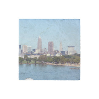 Cleveland Ohio (Lake View) Stone Magnet Stone Magnets