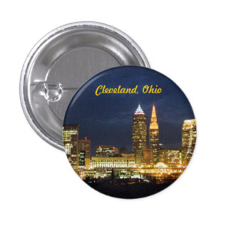 "Cleveland, Ohio ""Night Lights"" Button"
