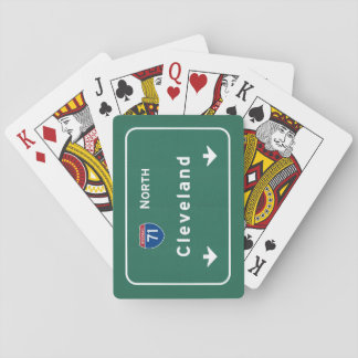 Cleveland Ohio oh Interstate Highway Freeway : Playing Cards