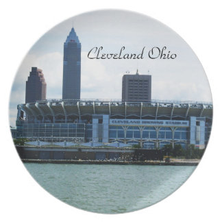 CLEVELAND OHIO ON THE LAKE plate