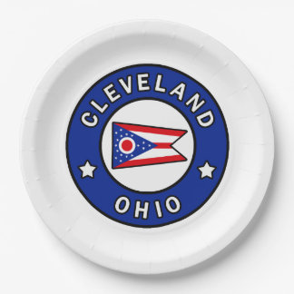 Cleveland Ohio Paper Plate
