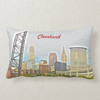 Cleveland, Ohio  River PhotoPaint Pillow