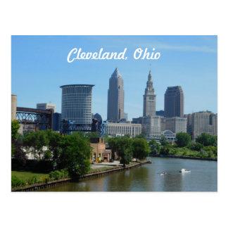 Cleveland, Ohio River Skyline Postcard