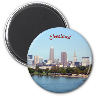 Cleveland, Ohio Round Magnet