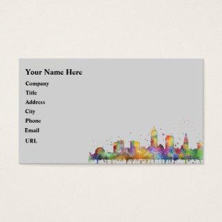 CLEVELAND, OHIO SKYLINE BUSINESS CARD
