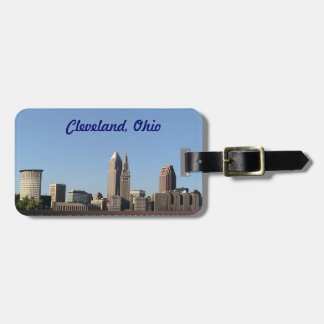 Cleveland Ohio Skyline Luggage tag