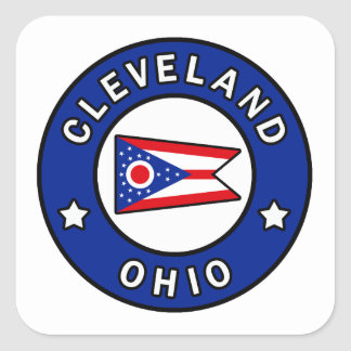 Cleveland Ohio Square Sticker