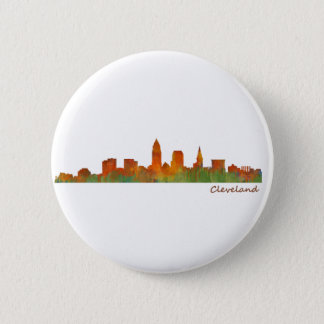 Cleveland Ohio the USA Skyline City v01 2 Inch Round Button