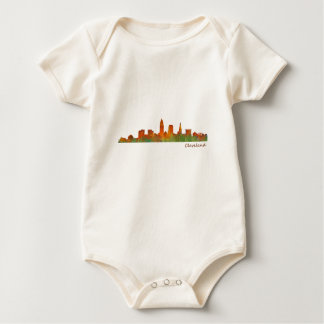 Cleveland Ohio the USA Skyline City v01 Baby Bodysuit