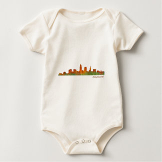 Cleveland Ohio the USA Skyline City v01 Baby Bodysuit