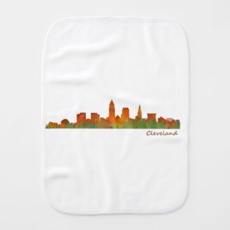 Cleveland Ohio the USA Skyline City v01 Burp Cloth