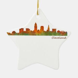 Cleveland Ohio the USA Skyline City v01 Ceramic Ornament