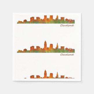 Cleveland Ohio the USA Skyline City v01 Disposable Napkins