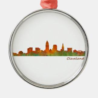 Cleveland Ohio the USA Skyline City v01 Metal Ornament