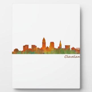 Cleveland Ohio the USA Skyline City v01 Plaque