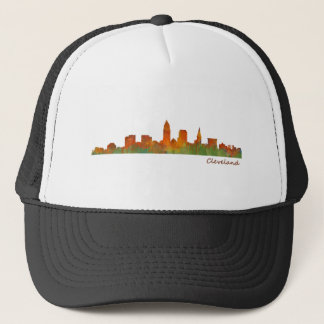 Cleveland Ohio the USA Skyline City v01 Trucker Hat