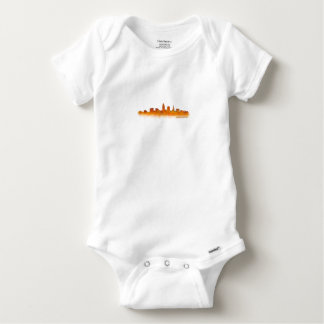 Cleveland Ohio the USA Skyline City v02 Baby Onesie
