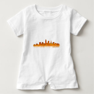 Cleveland Ohio the USA Skyline City v02 Baby Romper
