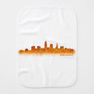 Cleveland Ohio the USA Skyline City v02 Burp Cloth