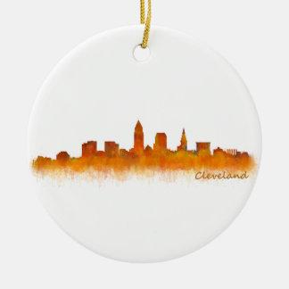 Cleveland Ohio the USA Skyline City v02 Ceramic Ornament