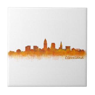 Cleveland Ohio the USA Skyline City v02 Ceramic Tile