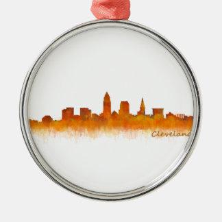 Cleveland Ohio the USA Skyline City v02 Metal Ornament
