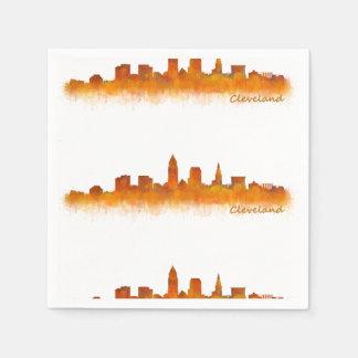 Cleveland Ohio the USA Skyline City v02 Paper Napkins