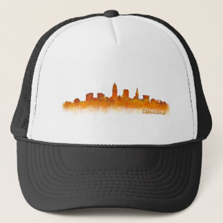 Cleveland Ohio the USA Skyline City v02 Trucker Hat
