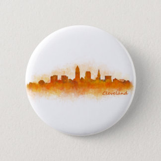 Cleveland Ohio the USA Skyline City v03 2 Inch Round Button