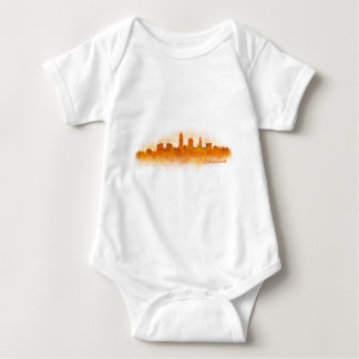 Cleveland Ohio the USA Skyline City v03 Baby Bodysuit