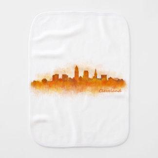 Cleveland Ohio the USA Skyline City v03 Burp Cloth