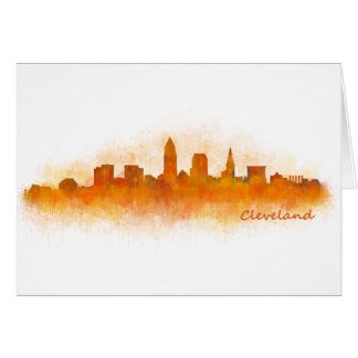 Cleveland Ohio the USA Skyline City v03 Card