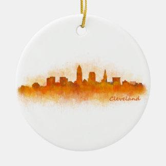 Cleveland Ohio the USA Skyline City v03 Ceramic Ornament