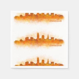 Cleveland Ohio the USA Skyline City v03 Disposable Napkin