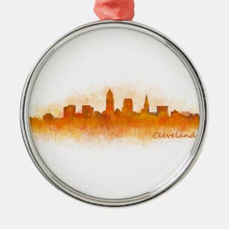 Cleveland Ohio the USA Skyline City v03 Metal Ornament
