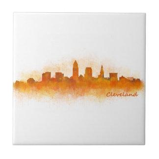Cleveland Ohio the USA Skyline City v03 Tile