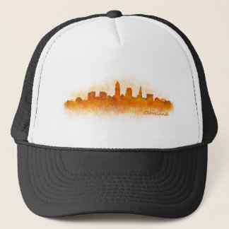 Cleveland Ohio the USA Skyline City v03 Trucker Hat