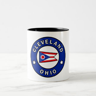 Cleveland Ohio Two-Tone Coffee Mug