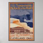 Cleveland Ohio Vintage Travel Poster Ad Retro