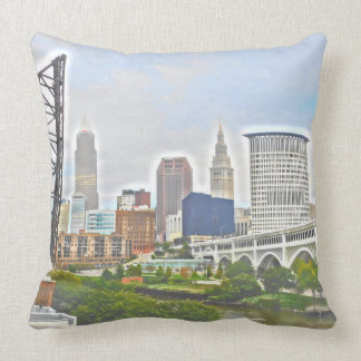 Cleveland Ohio West River Pillow