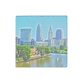 Cleveland (River View) Marble Stone Magnets