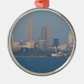 CLEVELAND Silver-Colored ROUND ORNAMENT
