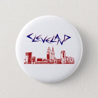 Cleveland Skyline 2 Inch Round Button