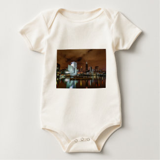 Cleveland Skyline at Night Baby Bodysuit