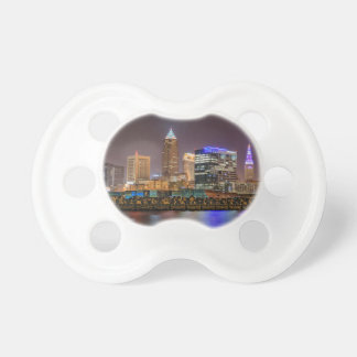 Cleveland Skyline at Night Baby Pacifier